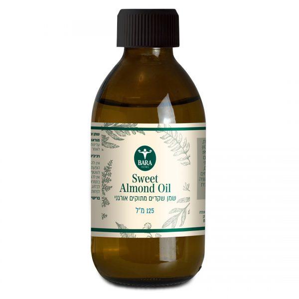 שמן שקדים מתוקים אורגני, almond