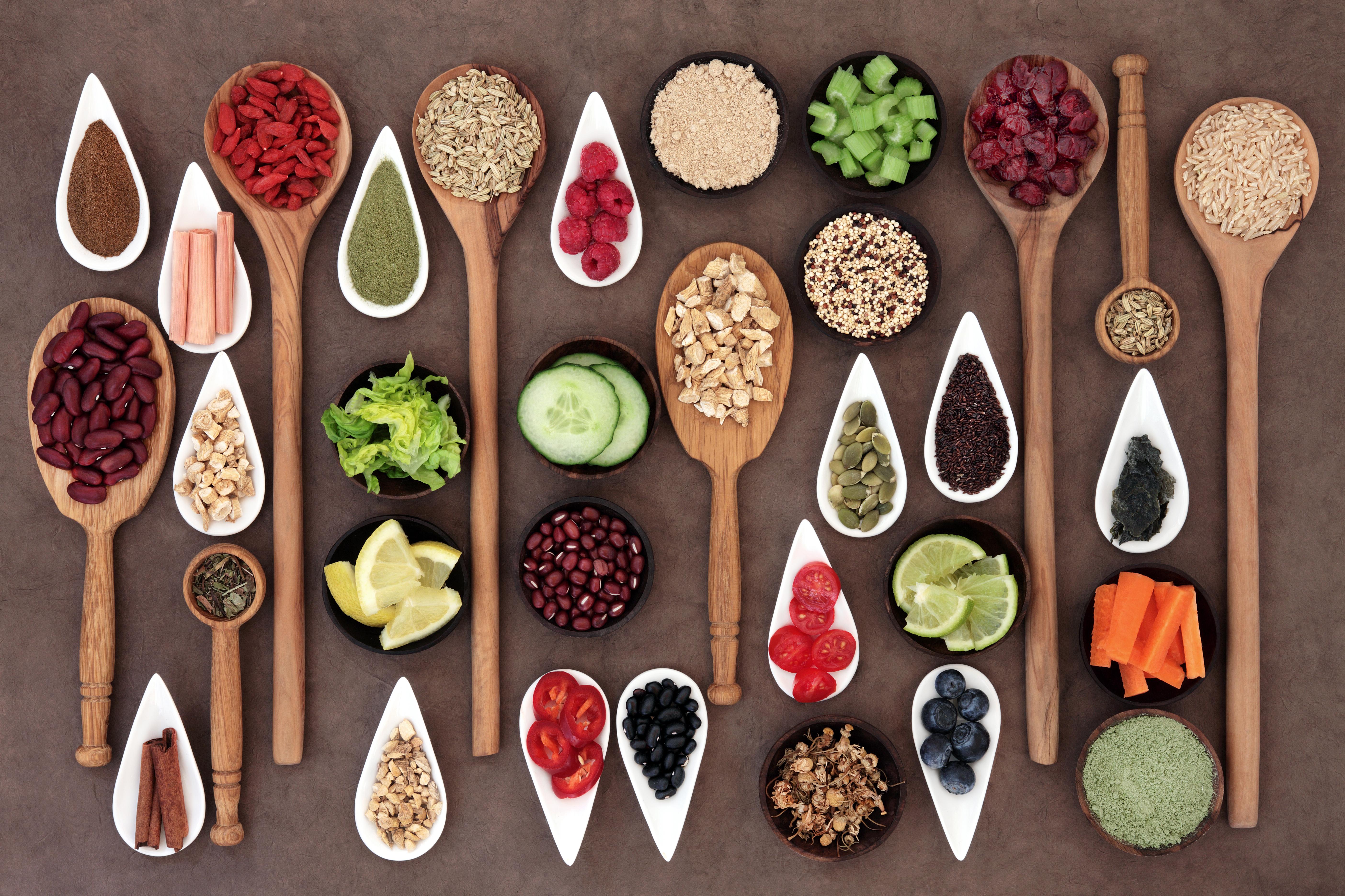 מזונות על טבעונות צמחונות